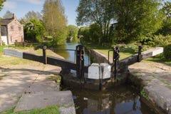 Shropshire Union Canal Lock Gates Stock Images