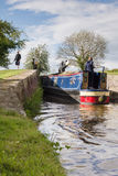 Shropshire Union Canal Locks and Boat Stock Photos
