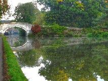 Bridge over the canal royalty free stock photos