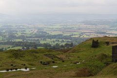 Shropshire wieś w mgiełce Poly i żywopłotów patchwork _ Obraz Stock