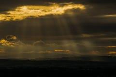 Shropshire zmierzch fotografia stock