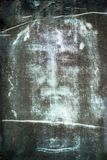 Shroud of Turin. Positive image of the religious shroud of Turin that is claimed to be the face of the Christian savior of Jesus Christ of Nazareth stock image