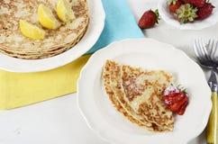 Shrove Pancake Tuesday pancakes Royalty Free Stock Image