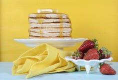 Shrove Pancake Tuesday stack of pancakes Stock Photography