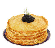Shrove pancakes Royalty Free Stock Image