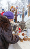 Shrovetide在俄罗斯 库存图片