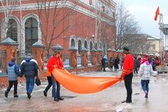 Shrovetide beröm i Moscow Arkivfoton