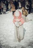 Shrovetide - the celebration and folk festival, Russia. Stock Photo