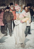 Shrovetide - the celebration and folk festival, Russia. Royalty Free Stock Image
