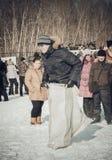 Shrovetide - the celebration and folk festival, Russia. Stock Images