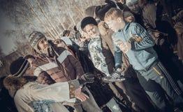 Shrovetide - the celebration and folk festival, Russia. Royalty Free Stock Photo