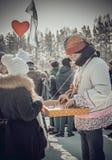 Shrovetide - the celebration and folk festival, Russia. Stock Image