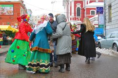 Shrovetide celebration in Moscow Stock Photos