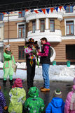 Shrovetide celebration in Moscow Royalty Free Stock Photo