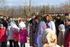 Shrovetide celebration, pancake week Royalty Free Stock Photo