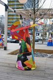Shrovetide decoration on New Arbat street in Moscow Stock Image