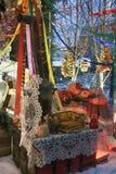 Shrovetide dekorer Shrovetide beröm i den Moscow staden centrerar Royaltyfria Foton