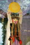 Shrovetide doll. Shrovetide celebrations in Moscow. Color photo. Shrovetide doll is a symbol of the holiday, a doll which is to be burned on the final day of Royalty Free Stock Photo