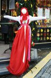 Shrovetide doll. Shrovetide celebrations in Moscow. Color photo. Shrovetide doll is a symbol of the holiday, a doll which is to be burned on the final day of Stock Photos