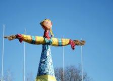 Shrovetide. Grande bambola per il burning. Immagini Stock Libere da Diritti