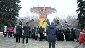 Shrovetide (Maslenitsa) celebration in Kiev, Ukraine, Royalty Free Stock Images