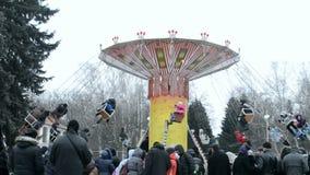 Shrovetide (Maslenitsa) celebration in Kiev, Ukraine, stock footage