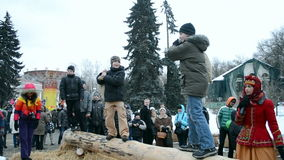 Shrovetide (Maslenitsa) celebration in Kiev, Ukraine, Stock Photography
