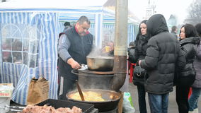 Shrovetide (Maslenitsa) celebration in Kyiv, Ukraine, 2014. Stock Photography