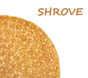 Shrovetide, Maslenitsa, fishnet pancake Royalty Free Stock Images