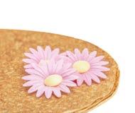 Shrovetide, Maslenitsa, fishnet pancake Stock Image