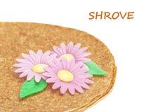 Shrovetide, Maslenitsa, fishnet pancake Royalty Free Stock Photos