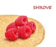 Shrovetide, Maslenitsa, fishnet pancakes Stock Photos