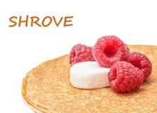 Shrovetide, Maslenitsa, fishnet pancakes Stock Photography