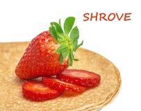 Shrovetide, Maslenitsa, fishnet pancakes Stock Images