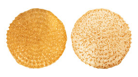 Shrovetide, Maslenitsa, fishnet two sides of the pancake Royalty Free Stock Image