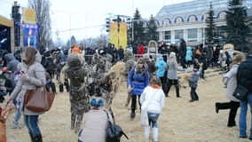 Shrovetide (Maslenitsa) a Kiev, Ucraina, stock footage