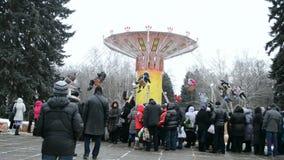 Shrovetide (Maslenitsa) in Kiev, Ukraine, stock video footage
