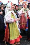 Shrovetide (Maslenitsa), Moscow Fotografering för Bildbyråer