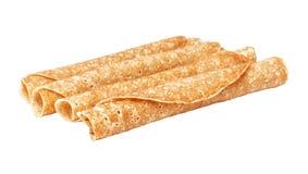 Shrovetide, Maslenitsa, tube fishnet pancakes Royalty Free Stock Image
