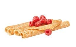 Shrovetide, Maslenitsa, tube fishnet pancakes Royalty Free Stock Images