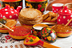 Shrovetide meal Royalty Free Stock Image