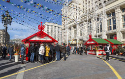 Shrovetide in Moscow on Manege square Royalty Free Stock Image