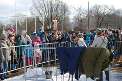 Shrovetide (Pancake week) celebration in Moscow. Royalty Free Stock Photos