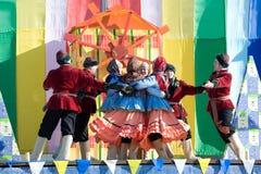 Shrovetide performance Stock Photography