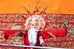 Shrovetide in Russia. Big doll for the burning as symbol of wint Stock Photo