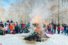 Shrovetide in the russia Stock Photography
