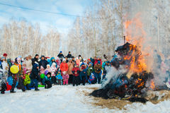 Shrovetide in the russia Royalty Free Stock Photos