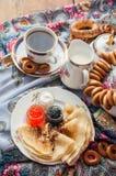 Shrovetide. Russian pancake festival. Royalty Free Stock Image