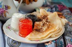 Shrovetide. Russian pancake festival. Stock Image