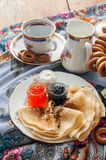 Shrovetide. Russian pancake festival. Royalty Free Stock Photos